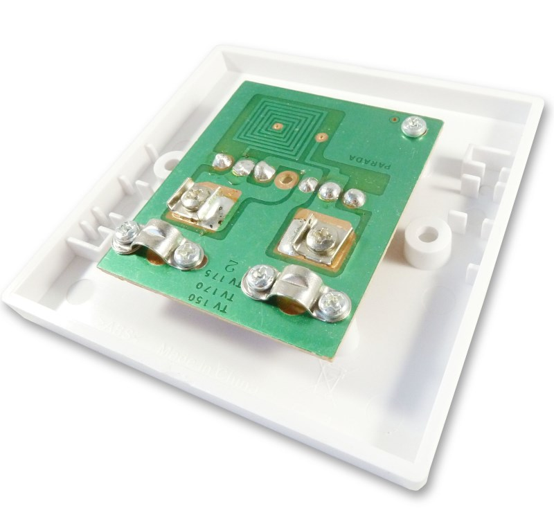 Awesome Twin Tv Aerial Rf Coax Wall Plate Fits 2 Tv Aerial Cables Cables4All Wiring Database Gramgelartorg